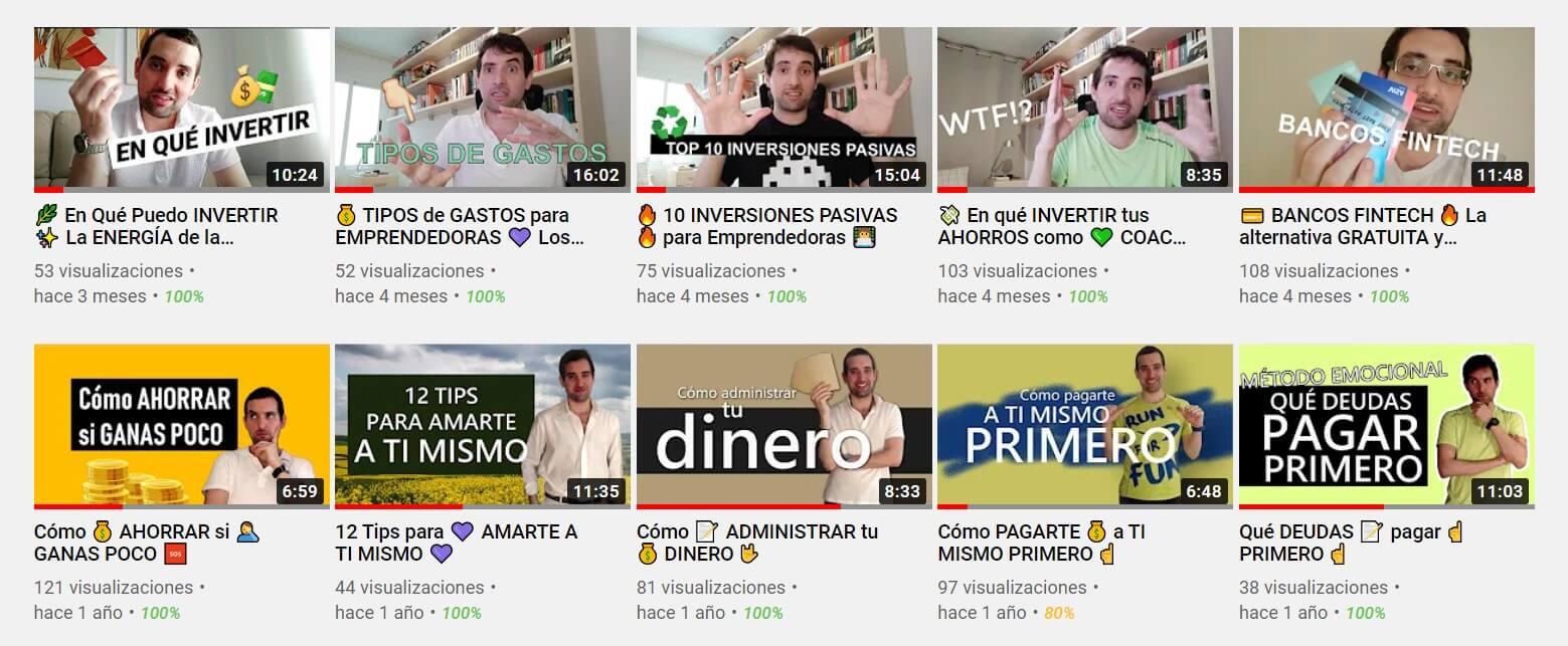 Canal YouTube Finanzas con ALMA